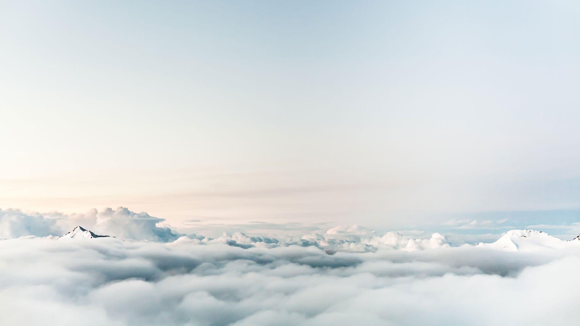 Aussicht über den Wolken