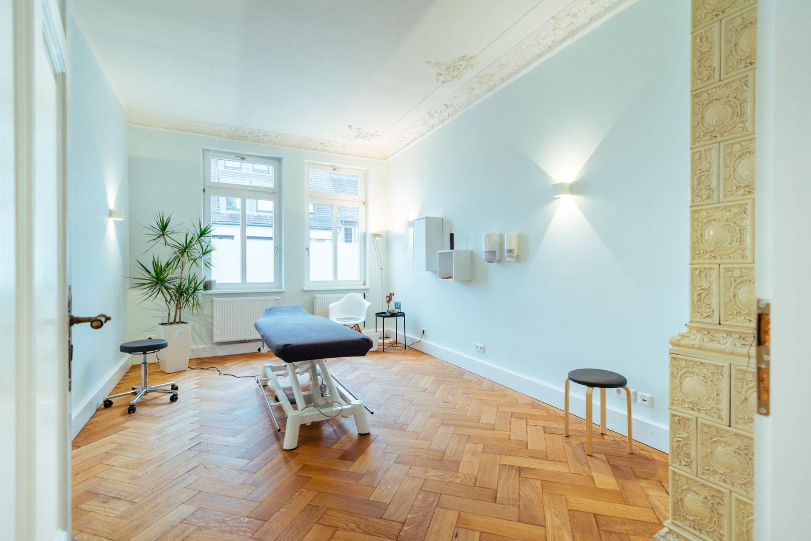 Behandlungsraum der von physioconcept Physiotherapie Nürnberg