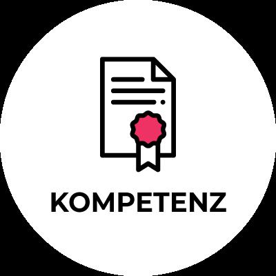 physioconcept Kompetenz - Urkunde mit dem Schriftzug Kompetenz