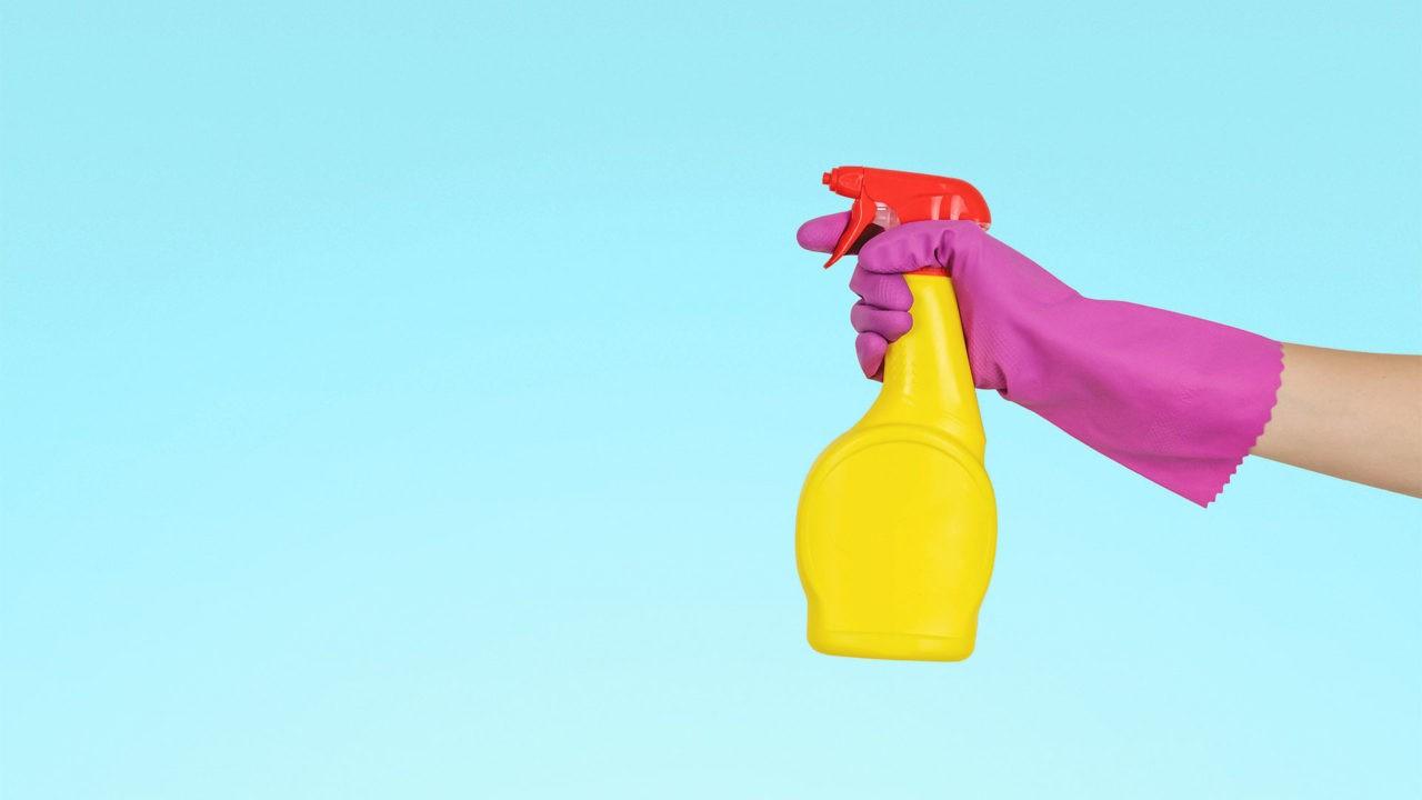 Physiotherapie Corona Hygiene - Handschuh Desinfektion